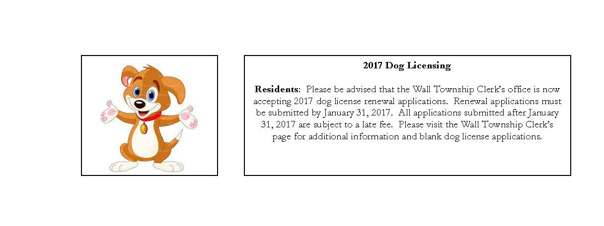 2017 Dog License Reminder
