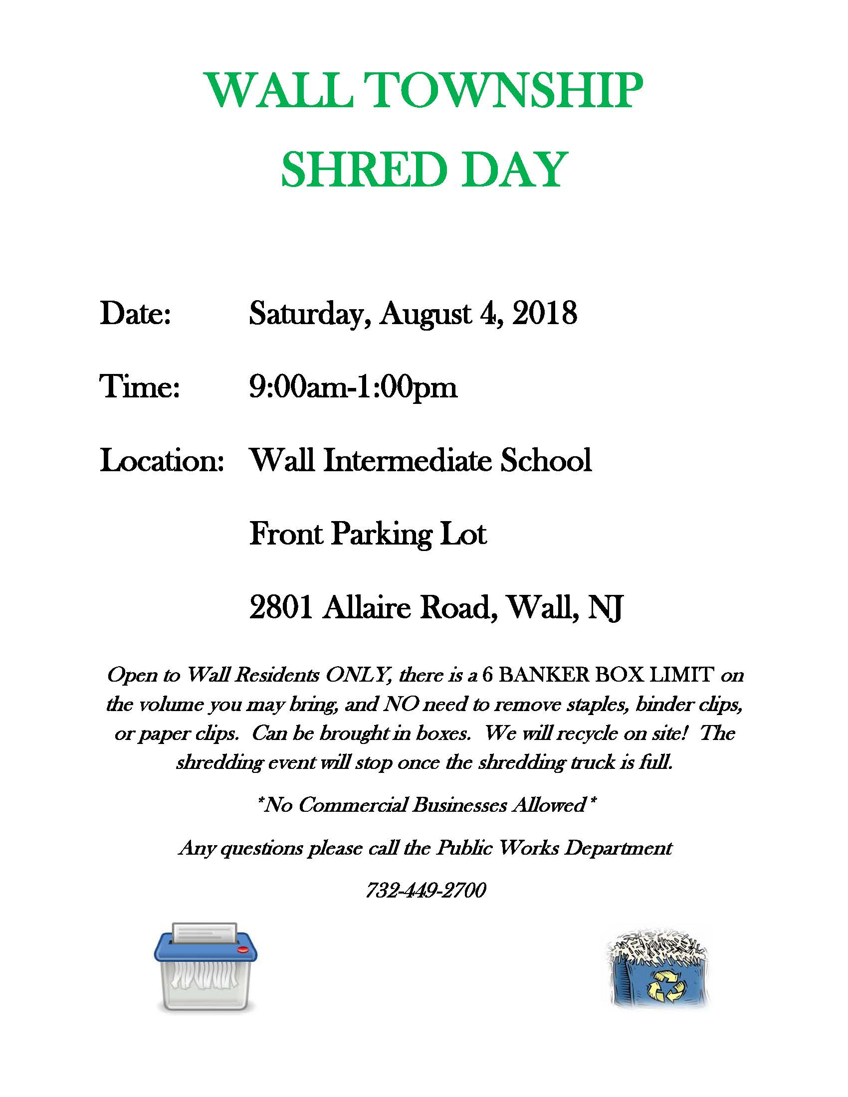 Shred Day August 4, 2018