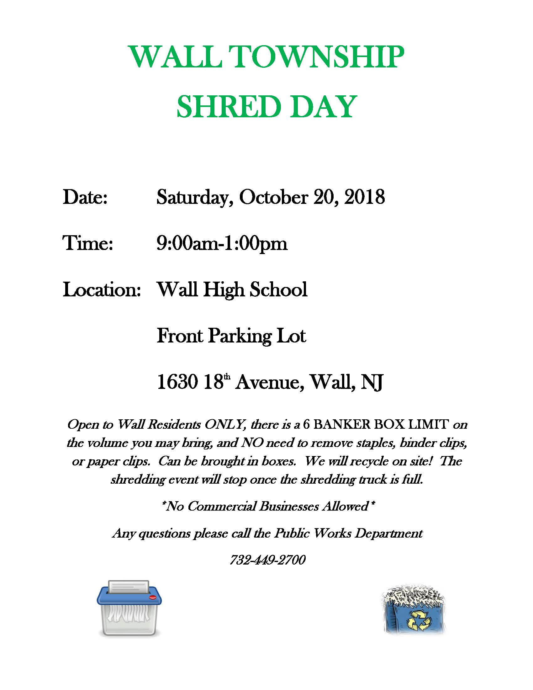 Shred Day October 20, 2018