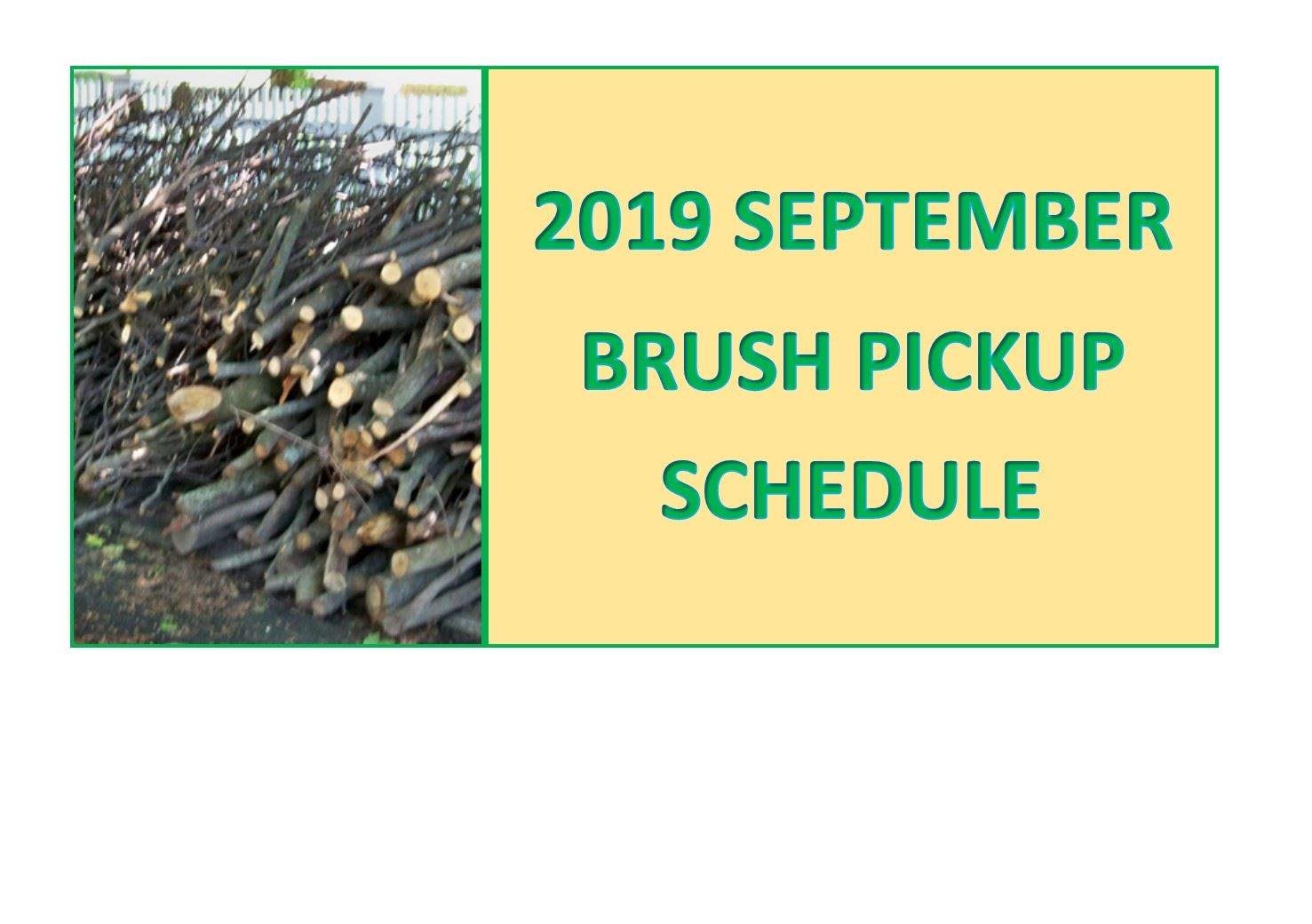 September Brush Schedule