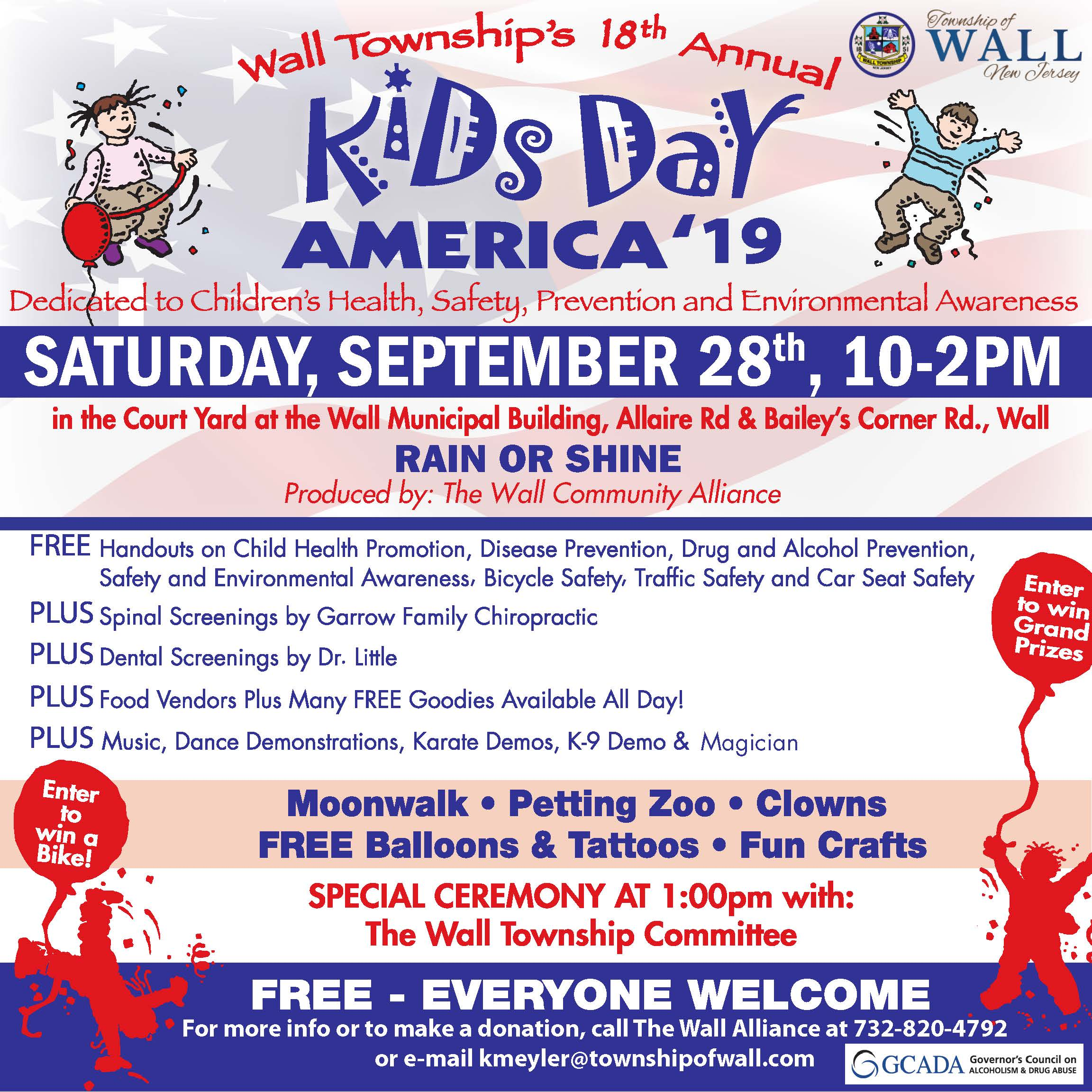 2019 Kids Day America Flyer
