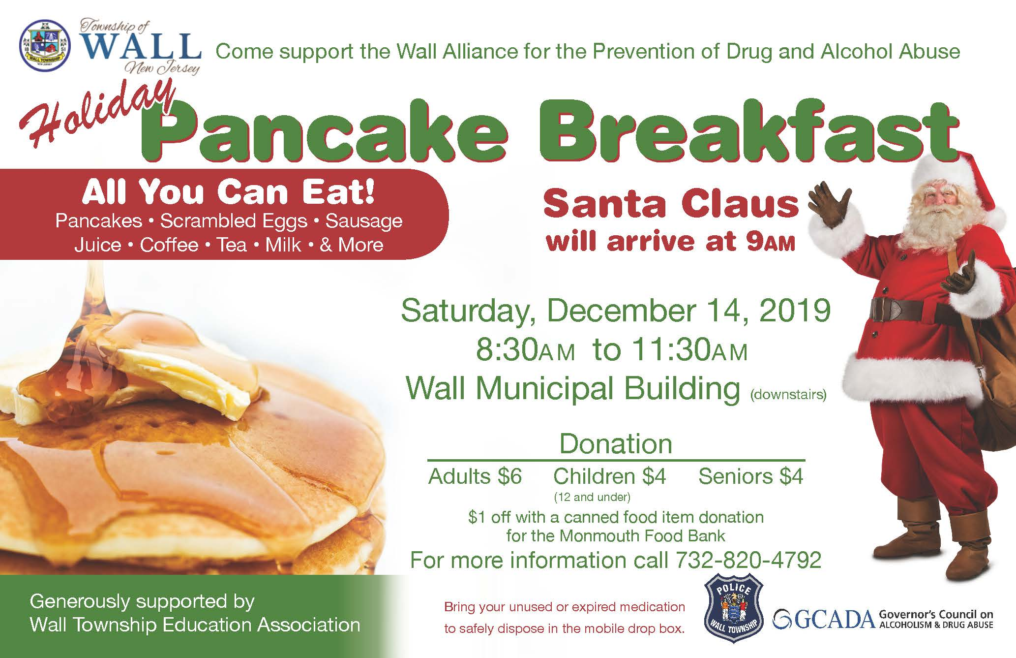 Wall Alliance Pancake Breakfast Christmas 2019_REVISED
