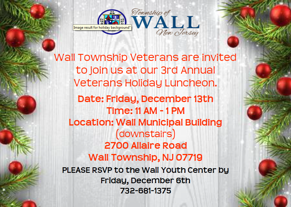 Veterans Holiday Lunch 12.13.19
