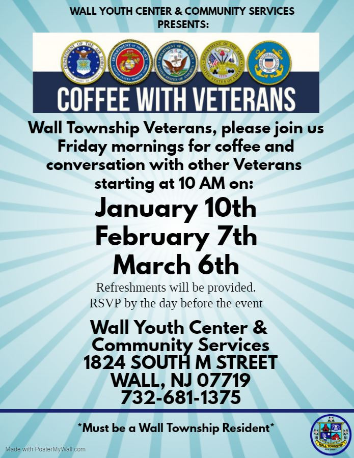 Winter Dates for Veterans Coffee