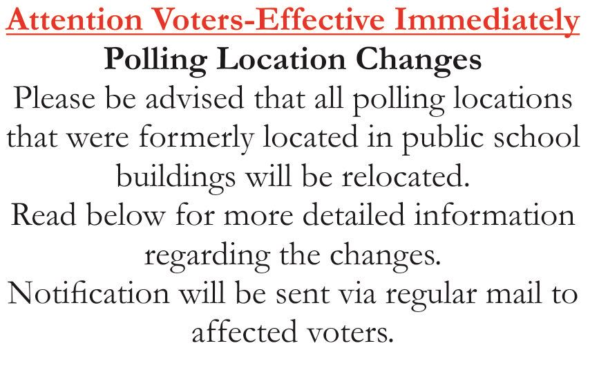 Website Notice Polling Location Changes