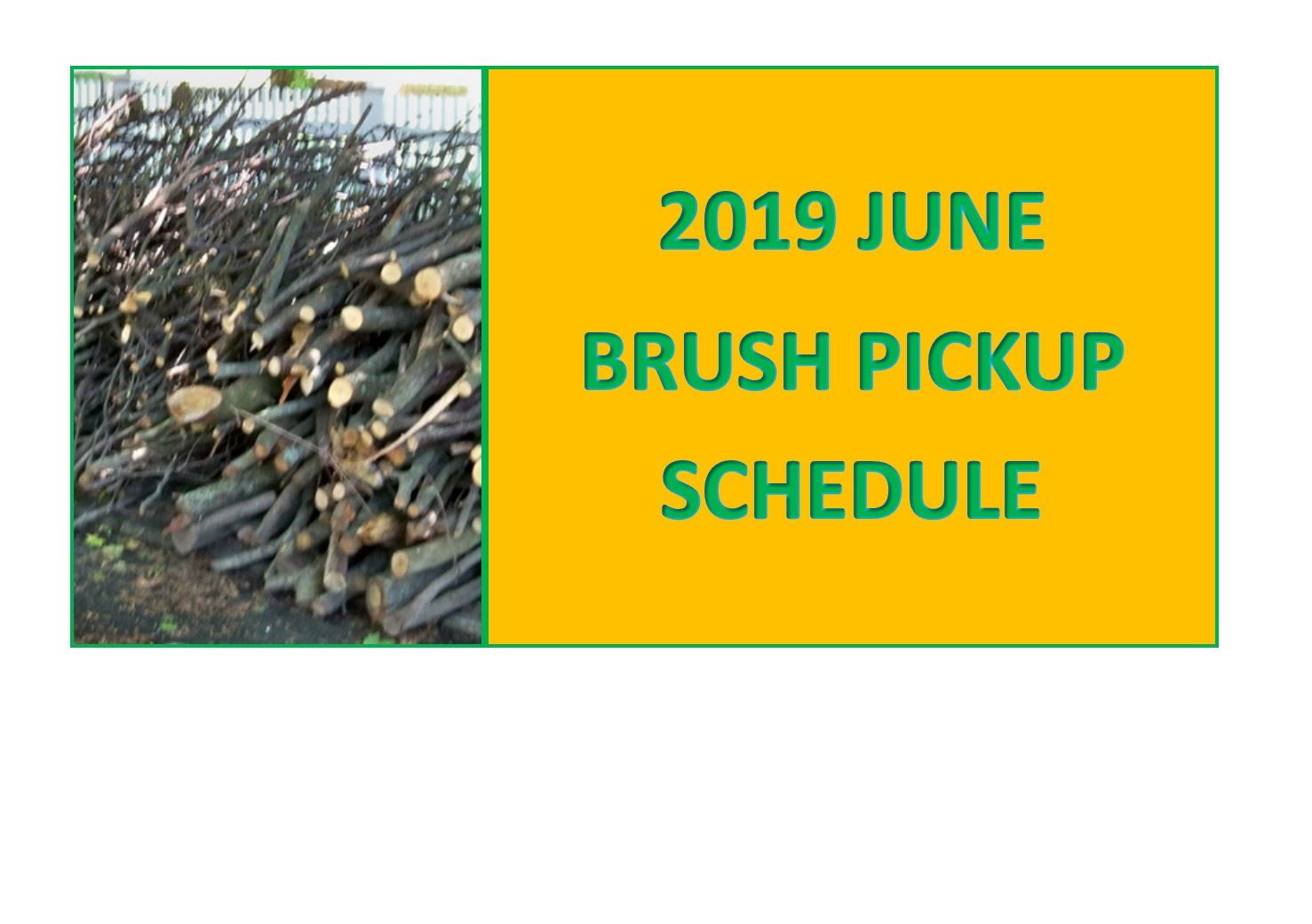June Brush Schedule