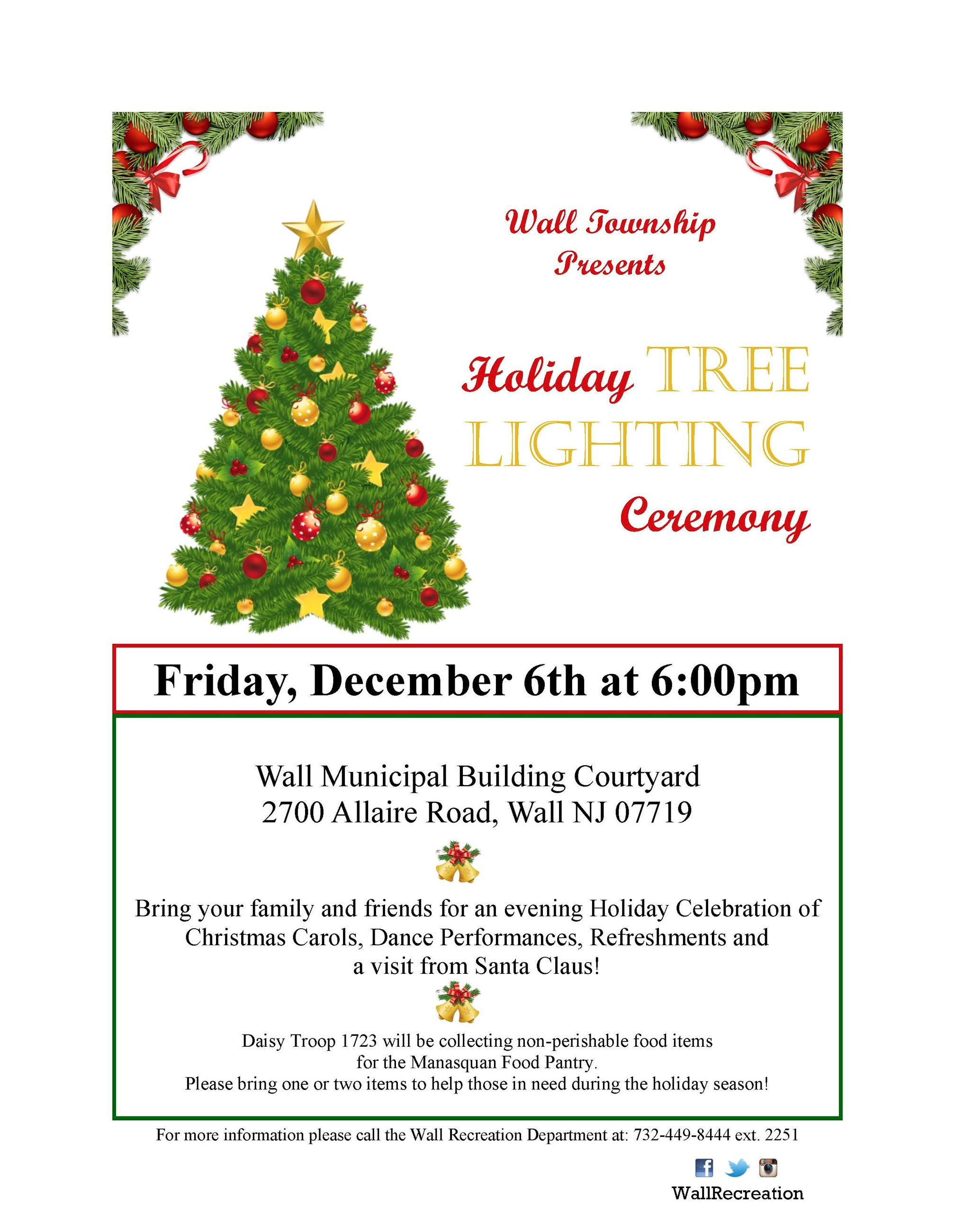Tree Lighting Flyer 2019